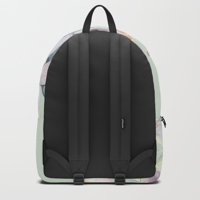 Beautiful Mint Succulents Backpack