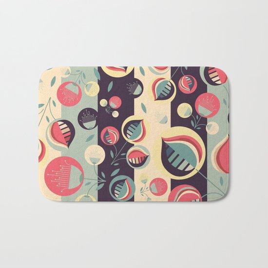 50's floral pattern II Bath Mat