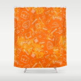 School chemical #5 Shower Curtain