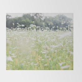 In a Field of Wildflowers Throw Blanket