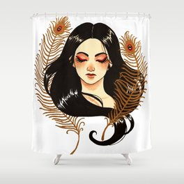 Peacock's feathers Shower Curtain