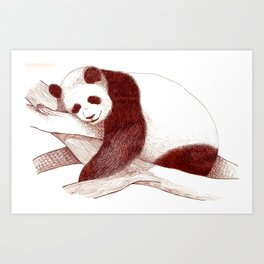 Sleeping Panda Art Print