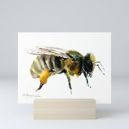 Bee, bee design honey bee, honey making Mini Art Print