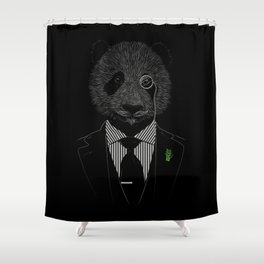 Sir Panda Shower Curtain