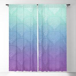 Purple & Turquoise Scallop Blackout Curtain