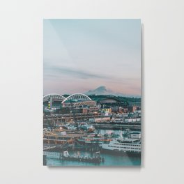 Seattle & Mount Rainier Metal Print