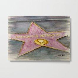 Miss Monroe - Walk of Fame Metal Print