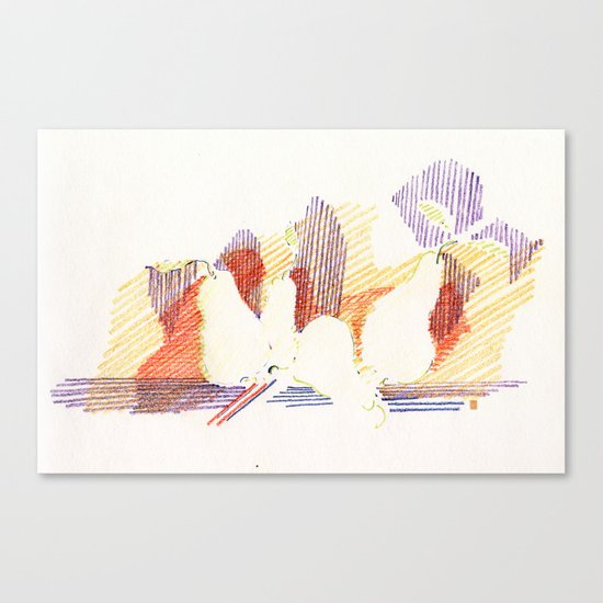 CRAYON LOVE - Shadows  Canvas Print
