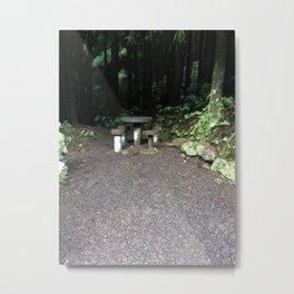 Picnic Table Metal Print