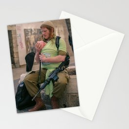 A Soldier & His Baby Stationery Cards