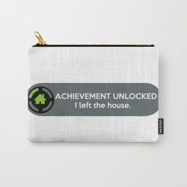 """ACHIEVEMENT UNLOCKED: I left the House"" Funny Quote Carry-All Pouch"