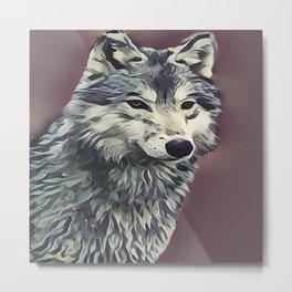 The Tundra Wolf Metal Print