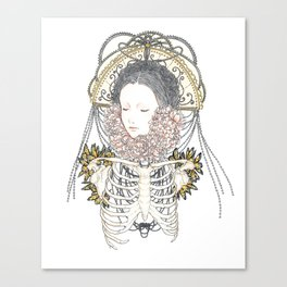 Shh, Her Majesty is sleeping Canvas Print