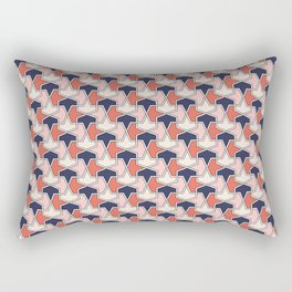 Islamic geometric arrows in red, white and blue Rectangular Pillow