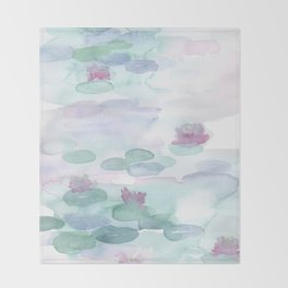 Monet Lily pads Throw Blanket