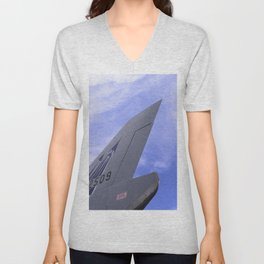 Conner F-106 Delta Dart Aircraft U.S. Air Force Unisex V-Neck