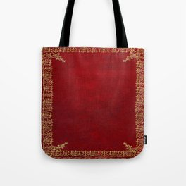 Red and Gilded Gold Book Tote Bag
