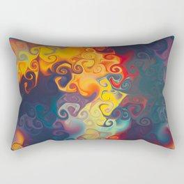 SMILE a cornucopia of colour dancing in flames Rectangular Pillow