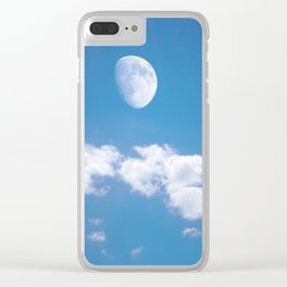 Daytime - Gibbous Moon  Clear iPhone Case