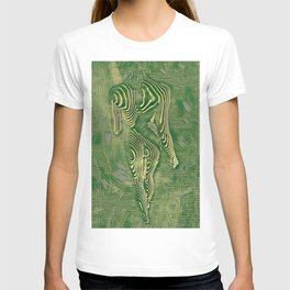 5360s-MAK Naked Motherboard Fine Art Nude Wired Woman T-shirt