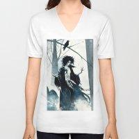 dreamcatcher V-neck T-shirts featuring dreamcatcher by Roger Cruz