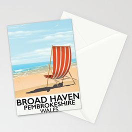 Broad Haven, Pembrokeshire,wales seaside Stationery Cards
