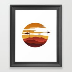 To the sunset Framed Art Print