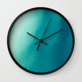 The colors of the deep ocean Wall Clock