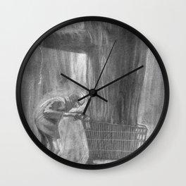 Shopping Cart Tree Wall Clock