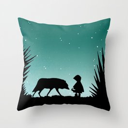 """Secret Encounters"" (Dedicated to the Ricci/Forte Theatre Company for their ""Grimmless"" Show) Throw Pillow"