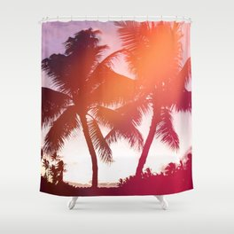 Aloha palms Shower Curtain