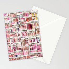 Lipstick Swatches Stationery Cards
