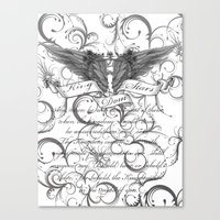 scripture Canvas Prints featuring Kingdom Stars Scripture by KingdomStarsClothing
