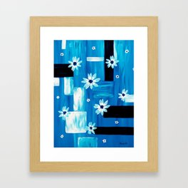 Abstract Daisies Framed Art Print