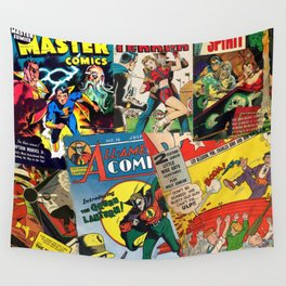 Comics Collage Wall Tapestry