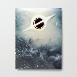 Interstellar Inspired Fictional Sci-Fi Teaser Movie Poster Metal Print