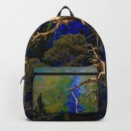 CONTEMPORARY BLUE  WILDERNESS ART  DESIGN Backpack