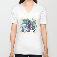 literary V-neck T-shirts featuring Angel of Clouds by DebS Digs Photo Art