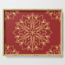 Golden Snowflake Serving Tray