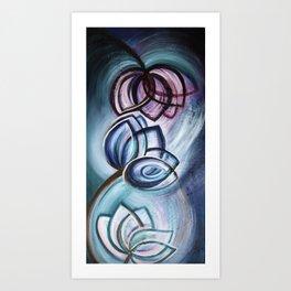 Three Lotuses Dancing Art Print