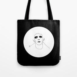 Lou Reed B & W Tote Bag
