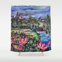 serenity Shower Curtains featuring Serenity by Art of Leki