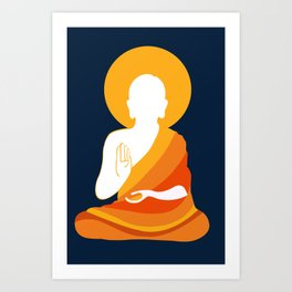 Lord Buddha Illustration Art Print