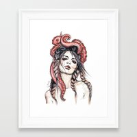 octopus Framed Art Prints featuring Octopus by Nora Bisi