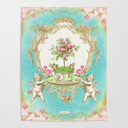 French Baroque Patisserie Tea Poster