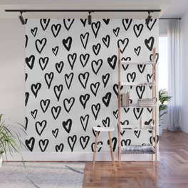 Hearts Pattern 01 Wall Mural