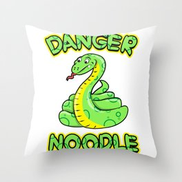 Danger Noodle for Snake Lovers Throw Pillow