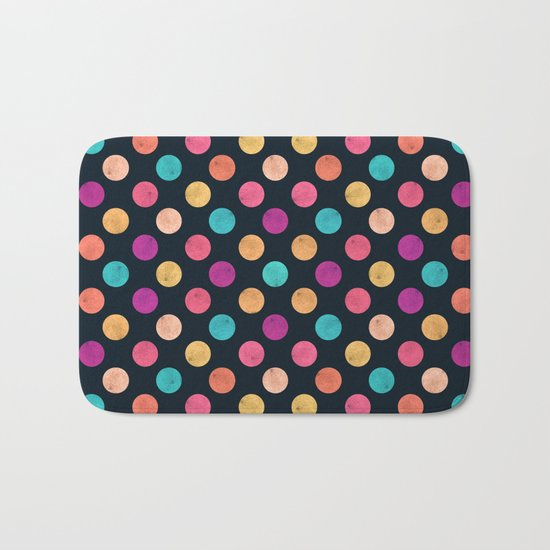 Watercolor Dots Pattern VI Bath Mat