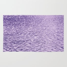 Ultra Violet Glittering Wavy Pattern | Trendy Color of year 2018 Rug