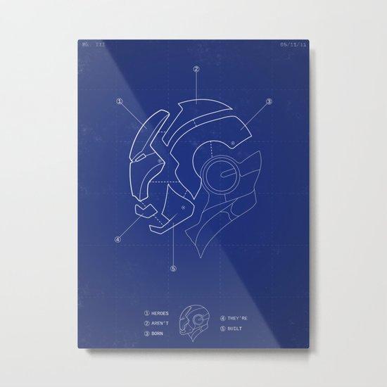 Heroes Are Built Metal Print